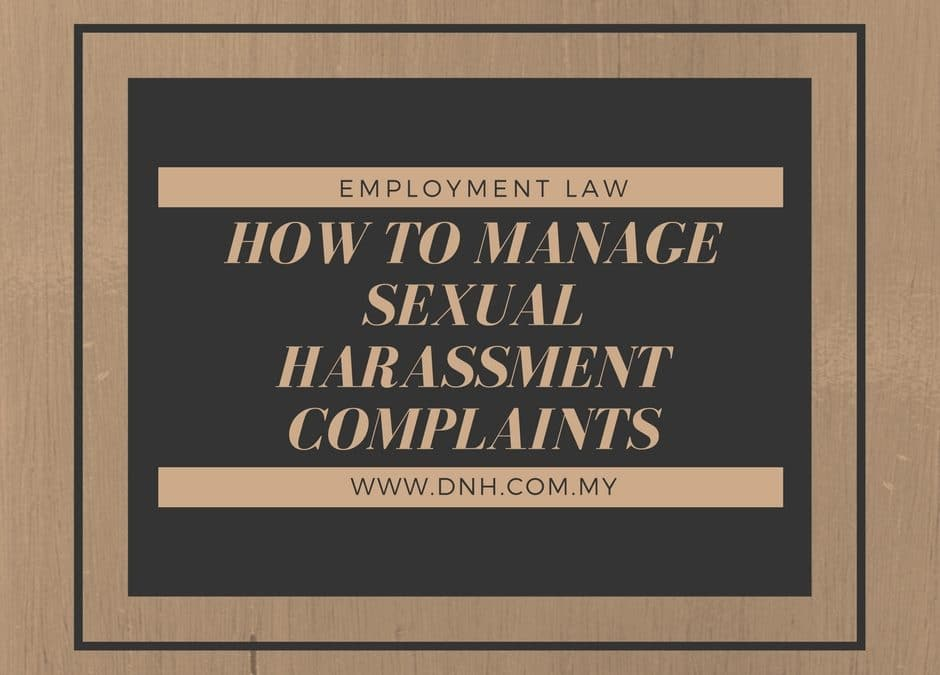 How to Manage Sexual Harassment Complaints