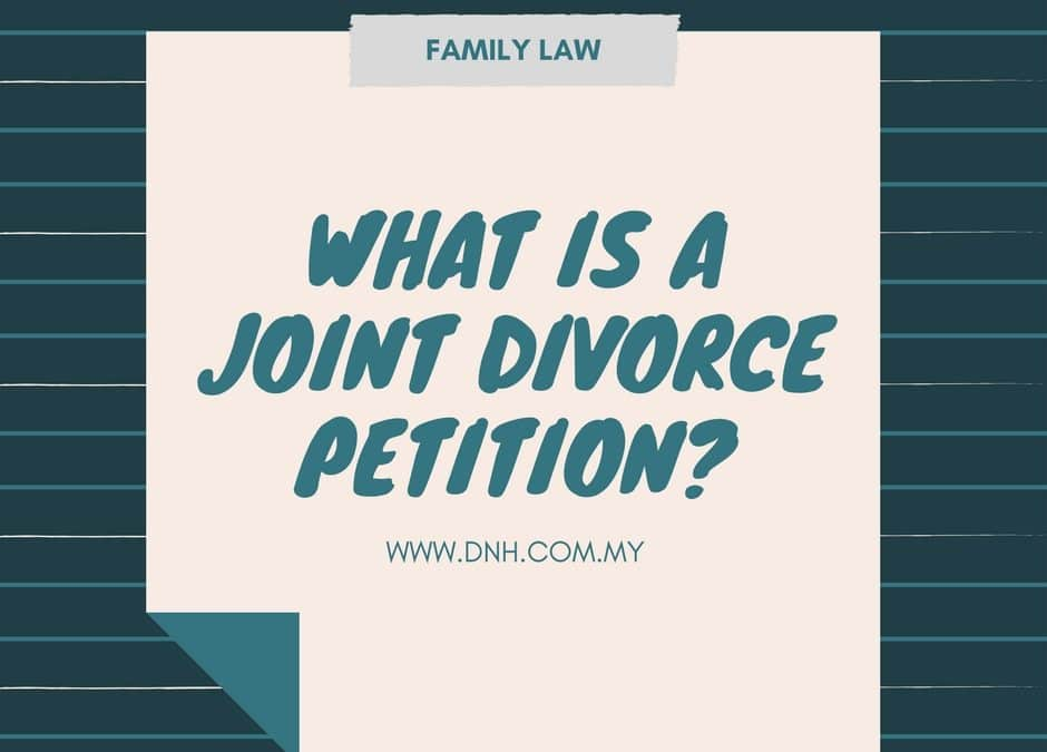What is a Joint Divorce Petition?