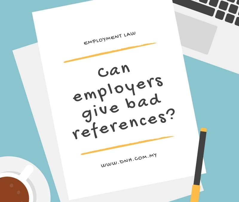 Can Employers Give Bad References?