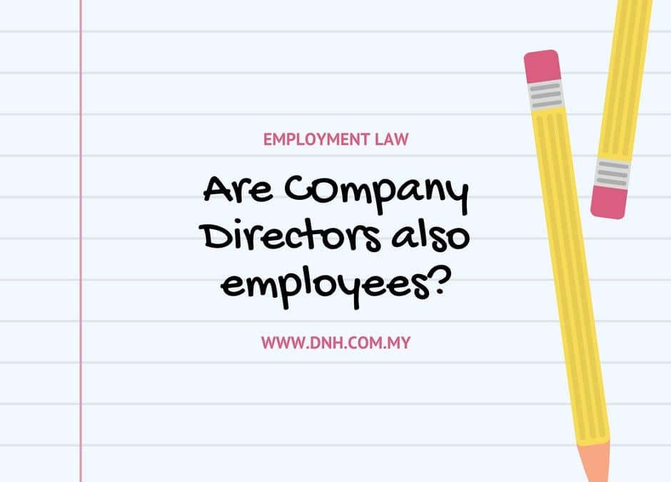 Are company directors also employees?