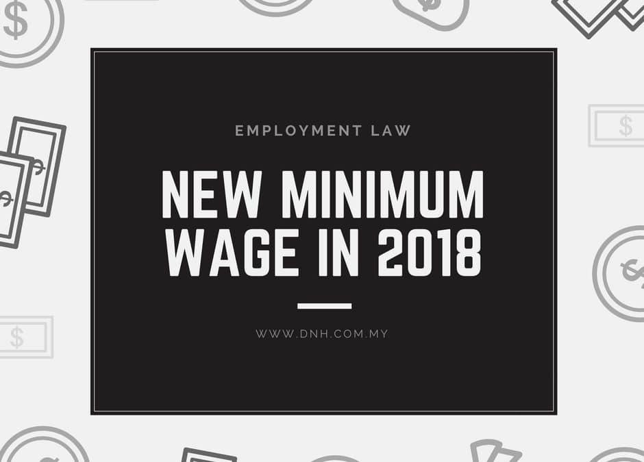 New Minimum Wage in 2018