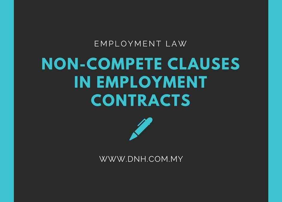 Applicability Of Non Compete Clauses Donovan Ho