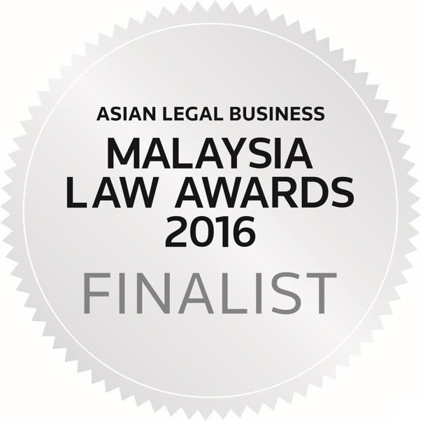"Donovan & Ho was a finalist for ""Rising Law Firm of the Year"" at the Malaysia Law Awards 2016"