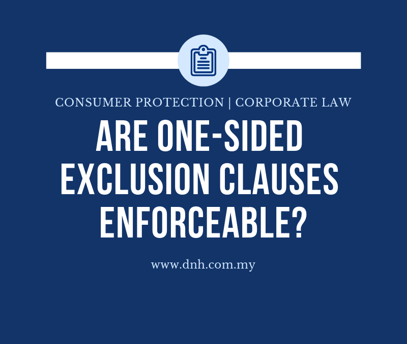 Are One-Sided Exclusion Clauses Enforceable?