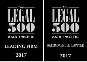 Donovan & Ho has been ranked as a leading firm on the Legal 500 Asia Pacific 2017. Donovan Cheah is recognised as a recommended lawyer for labour and employment.