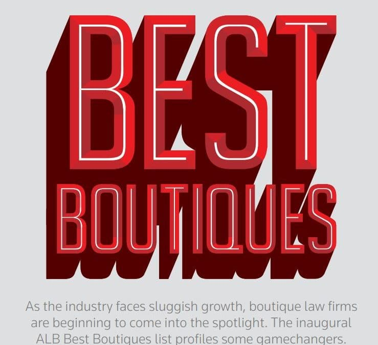 Donovan & Ho named as one of the Best Boutiques by Asian Legal Business