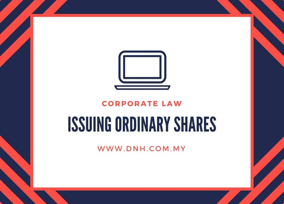Issuing Ordinary Shares