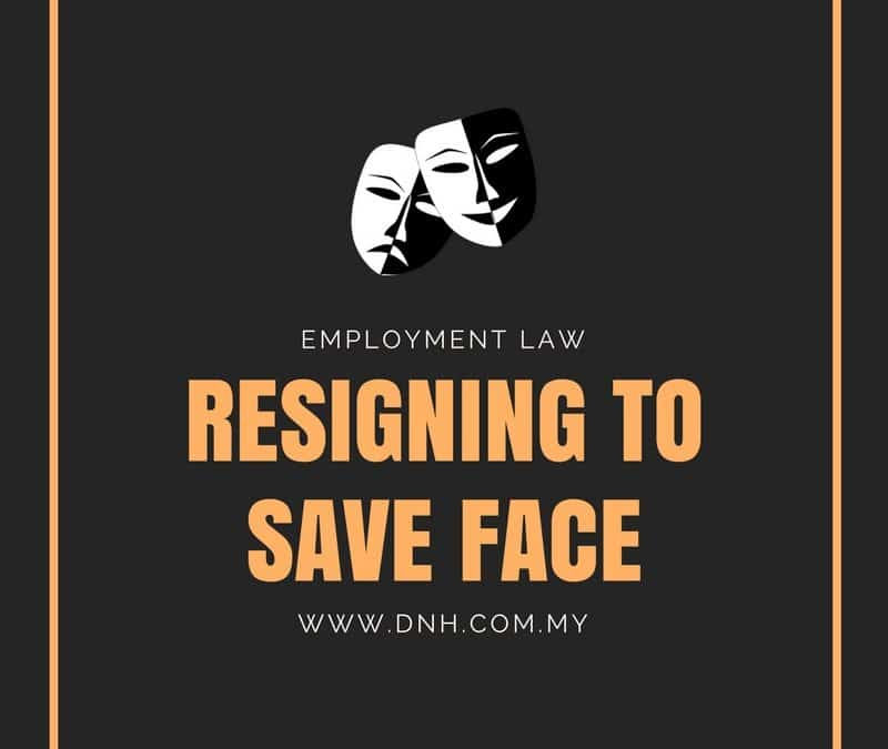 Resigning to Save Face