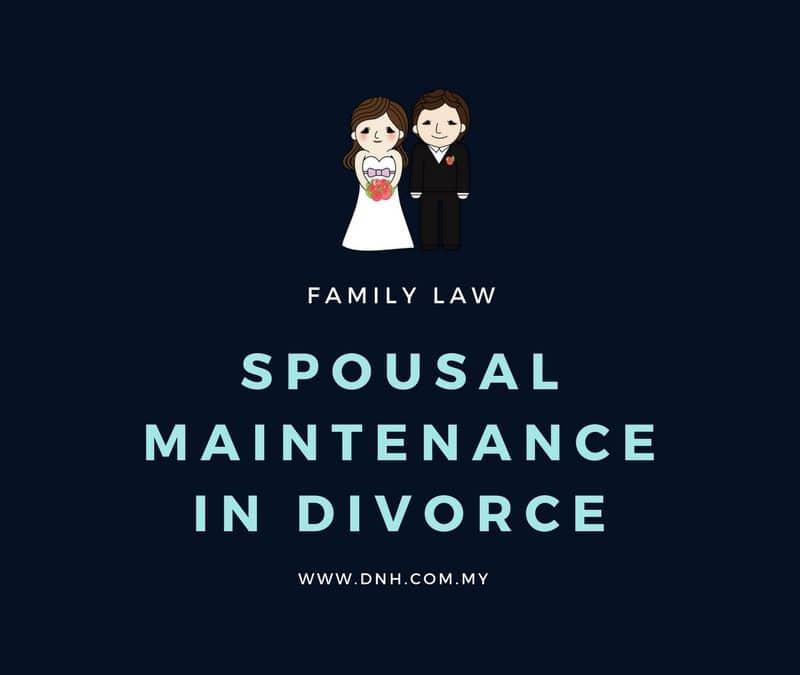 Spousal Maintenance in Divorce