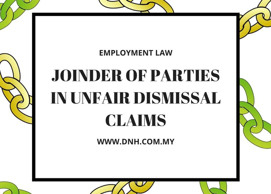 Joinder of Parties in Unfair Dismissal Claims