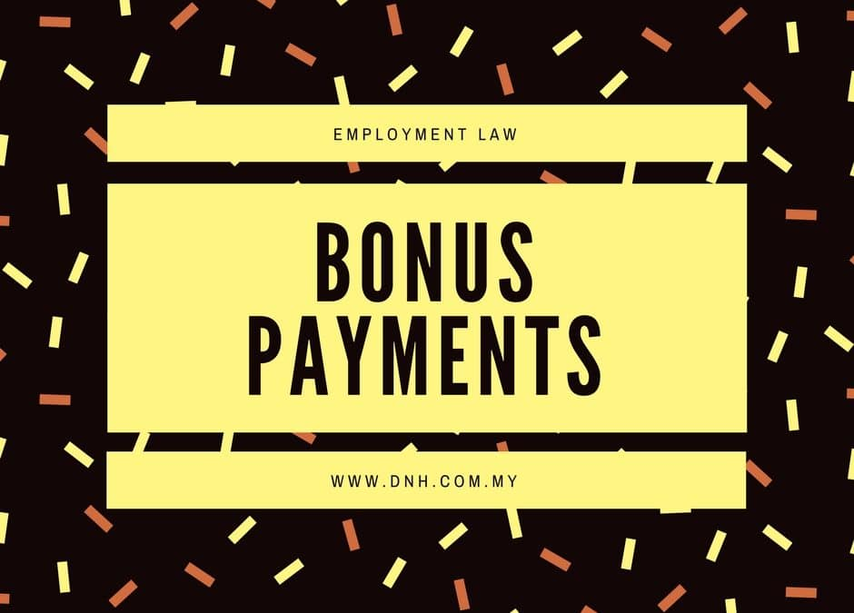 The Law on Bonus Payments