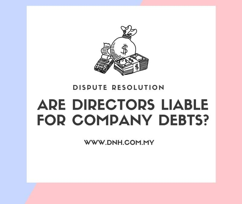 Are Directors Personally Liable for Company Debts?