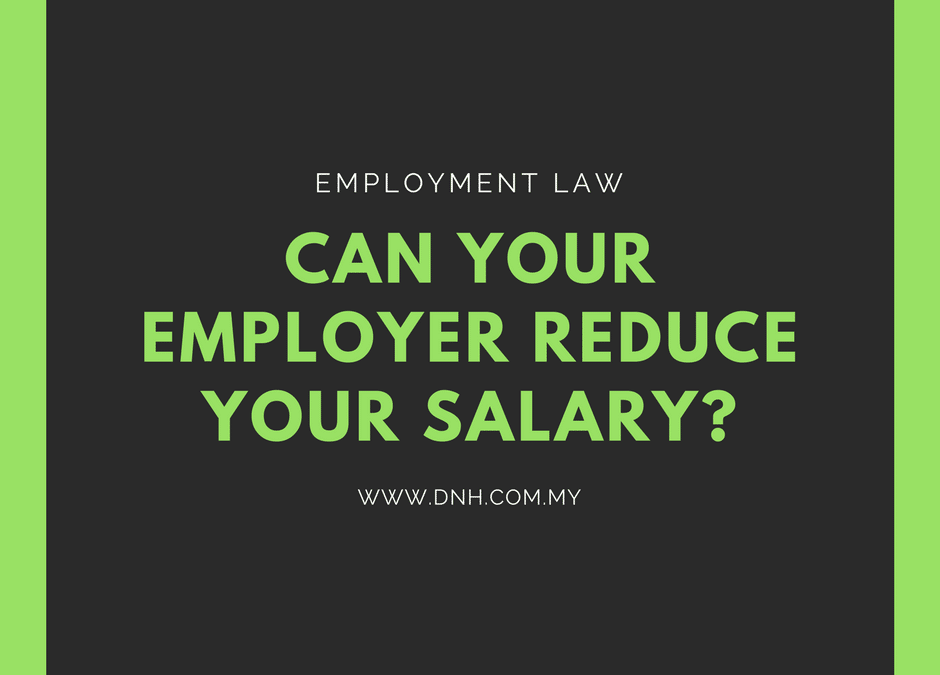 Can Your Employer Reduce Your Salary?