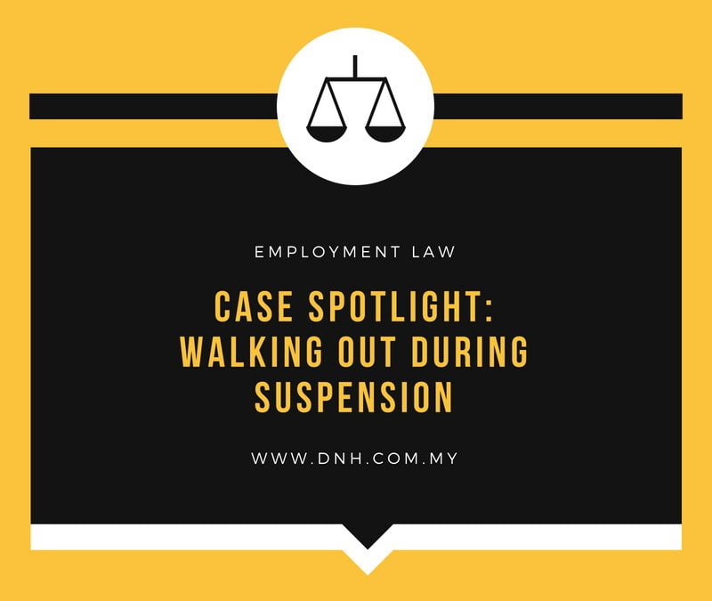 Case Spotlight: Walking Out During Suspension