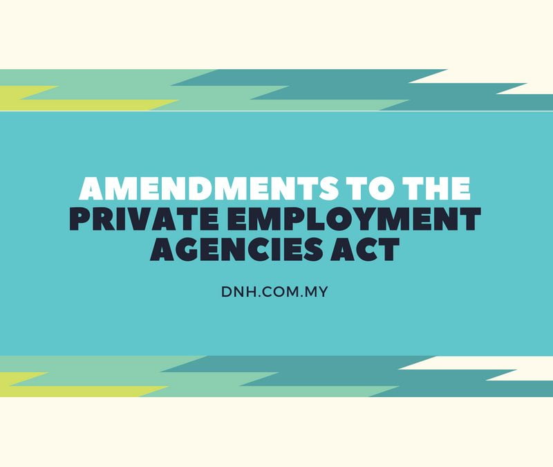 Amendments to the Private Employment Agencies Act