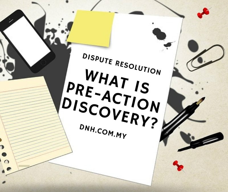 What is Pre-Action Discovery?