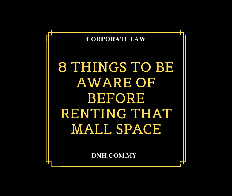 8 Things to be Aware of before Renting that Mall Space
