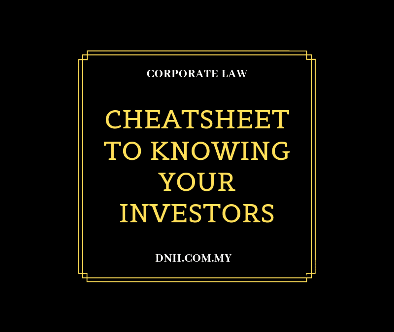Cheatsheet to Knowing your Investors