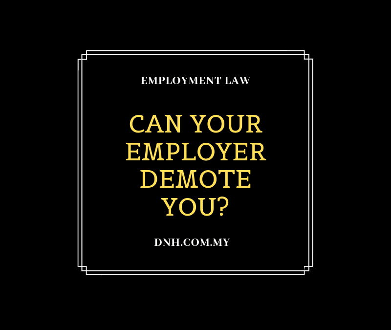 Can your Employer demote you?