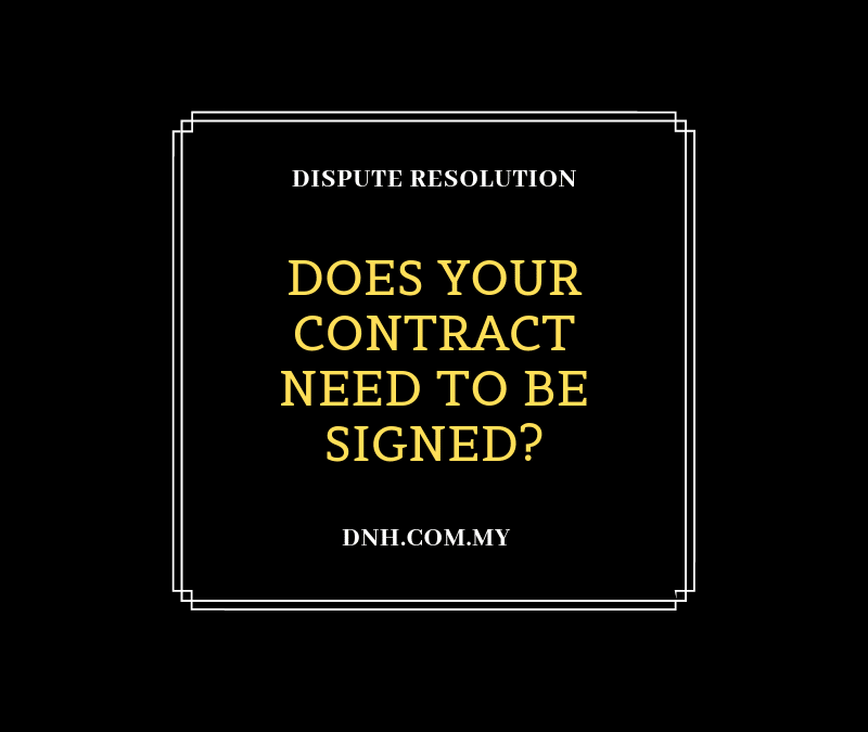 Does your Contract need to be Signed?