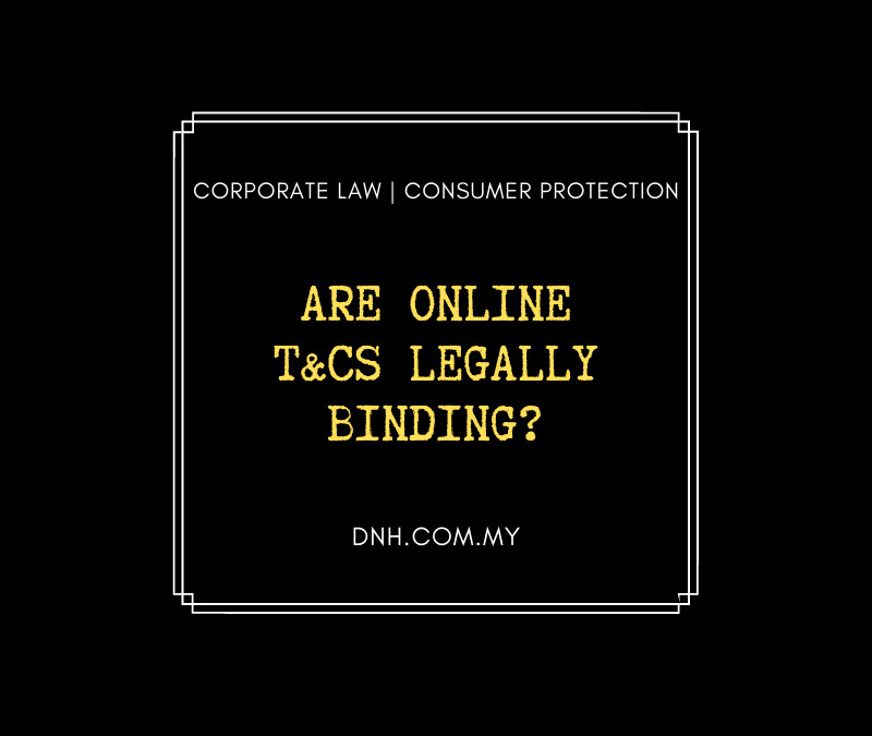 Are online T&Cs legally binding?