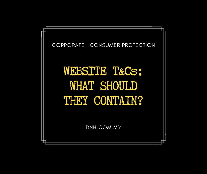 Website T&Cs – What should they contain?