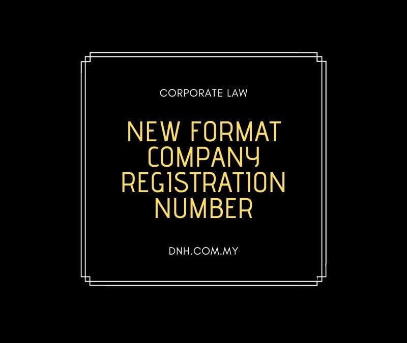 New Format Company Registration Number