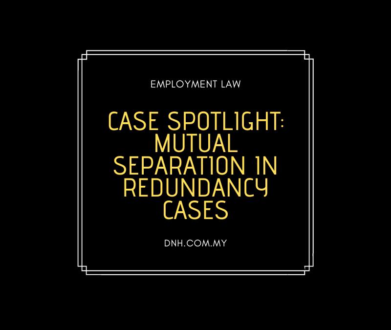 Case Spotlight: Mutual Separation in Redundancy Cases