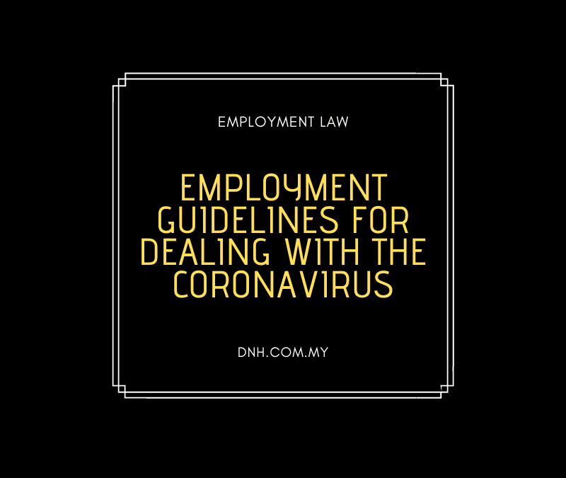 Employment Guidelines for Dealing with the Coronavirus