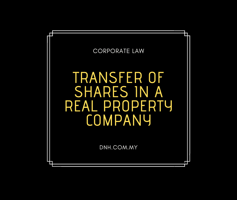 Transfer of Shares in a Real Property Company