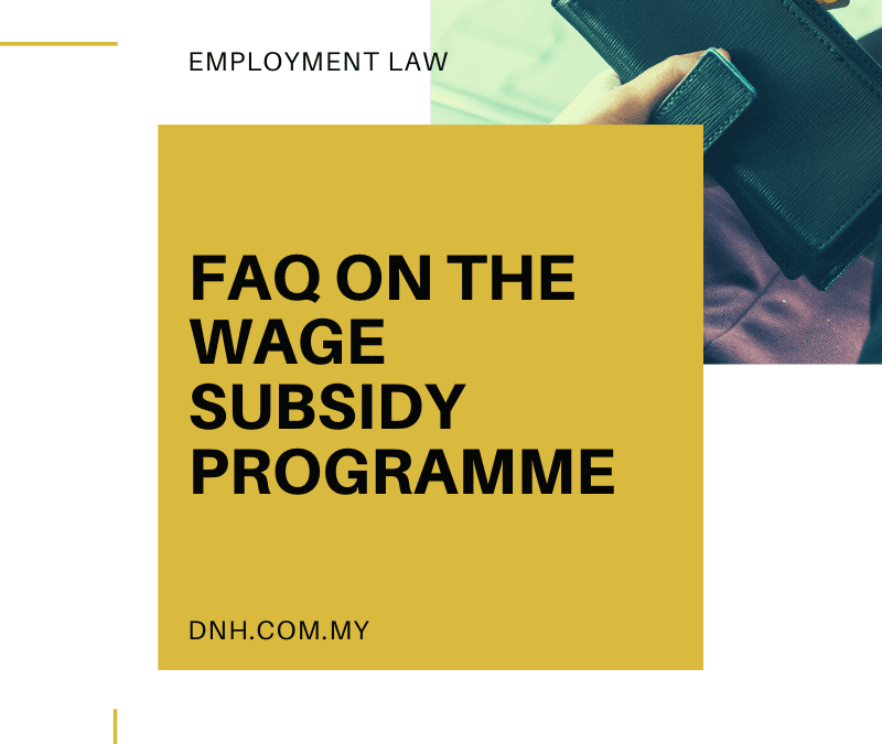 FAQ On the Wage Subsidy Programme