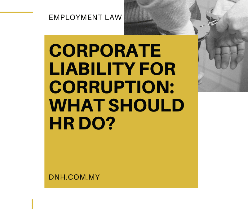 Corporate Liability for Corruption: What should HR do?