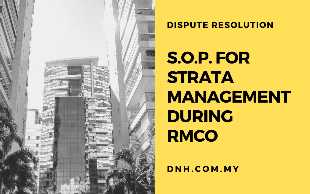 S.O.P. for Strata Management during RMCO