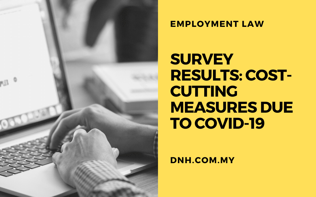 Survey Results: Cost-Cutting Measures due to COVID-19