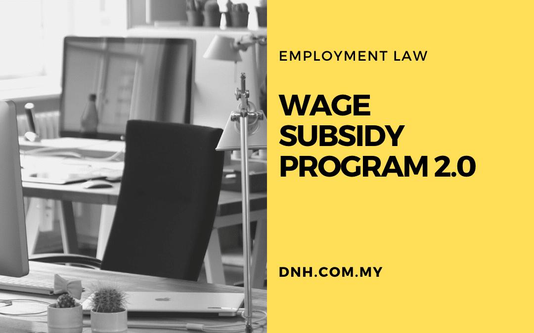 Wage Subsidy Program 2.0