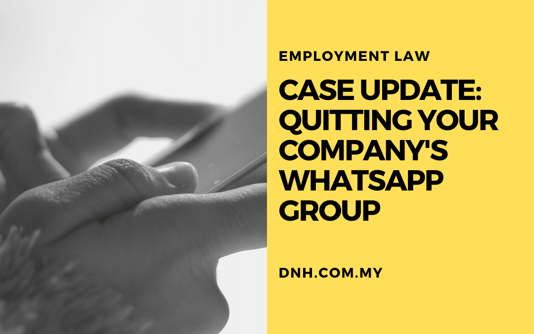 Case Update: Quitting Your Company's WhatsApp Group