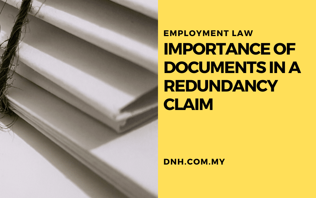 Importance of Documents in a Redundancy Claim