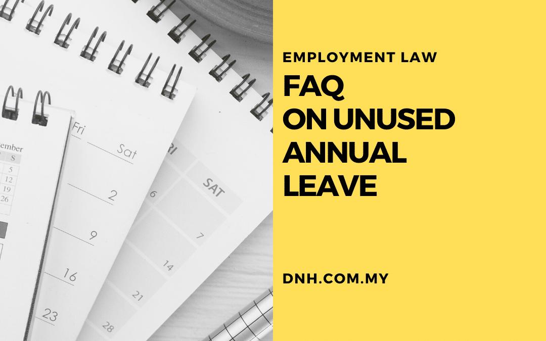FAQ on Unused Annual Leave