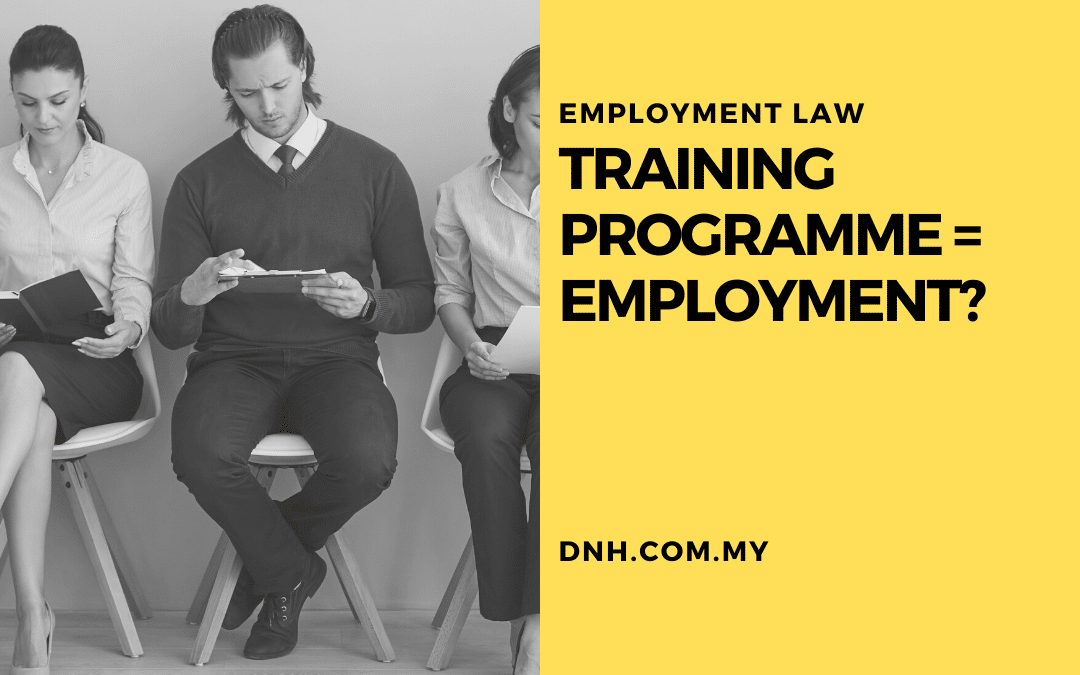Training Programme = Employment?