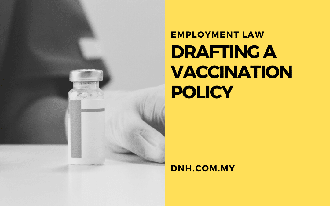 Drafting a Vaccination Policy